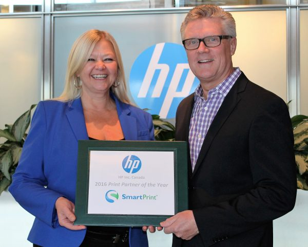 managed print services smartprint named hp 2016 canadian print partner
